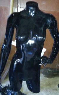 Торс женский черный глянец